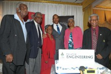 Class of 1967 members after the Presentation Ceremony (l-r): Winston Wright, Dr Vin Lawrence, Dr Lilieth Nelson, Dr Paul Aiken, Dean of the Faculty of Engineering, Dr Judith Robinson and Professor Neville Ying.