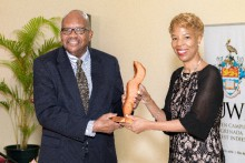H.E. Sir Samuel Tapley Seaton of St. Kitts and Nevis presented by Director of Alumni Relations