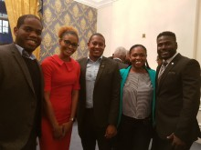 L-R Andre Clarke, Naketa West, Floyd Green, Kamille Morgan and Tijani Christian