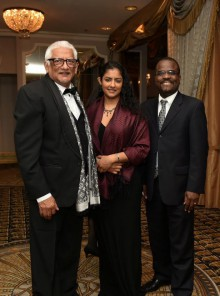 PVC and Principal of the St. Augustine Campus, Clement Sankat, (left) at the 2016 AFUWI Gala